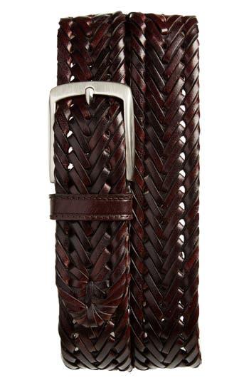 Men's Trafalgar Enzo Braided Leather Belt