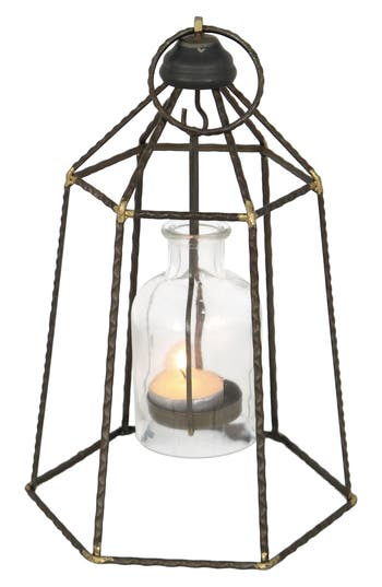 Foreside Small Pendant Votive Candle Holder, Size One Size - Black