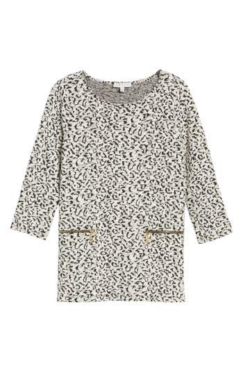 Women's Chaus Zip Pocket Leopard Print Sweater