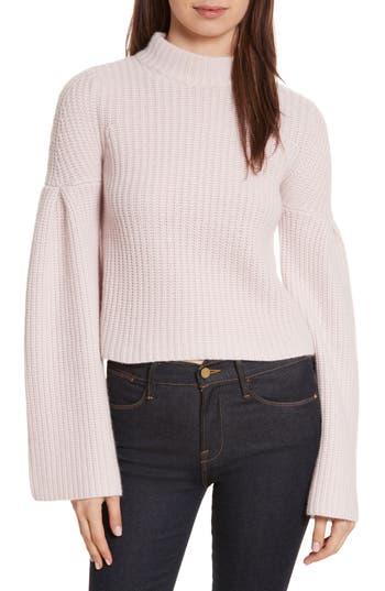 Women's Autumn Cashmere Trumpet Sleeve Crop Sweater