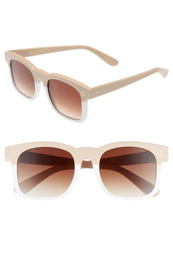 Wildfox Gaudy Zero 51Mm Flat Square Sunglasses - Cream-White
