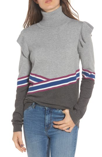 Women's Hinge Colorblock Turtleneck Sweater