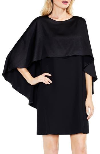 Vince Camuto Cape Overlay Dress, Black