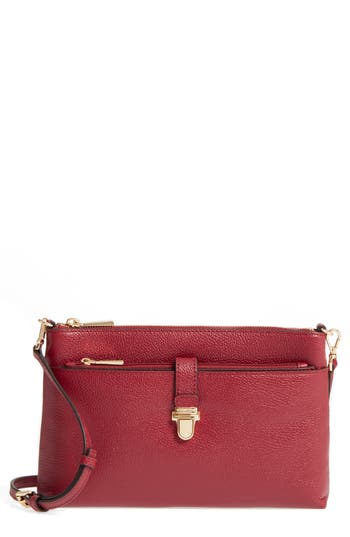 Michael Michael Kors Large Mercer Leather Crossbody Bag - Red