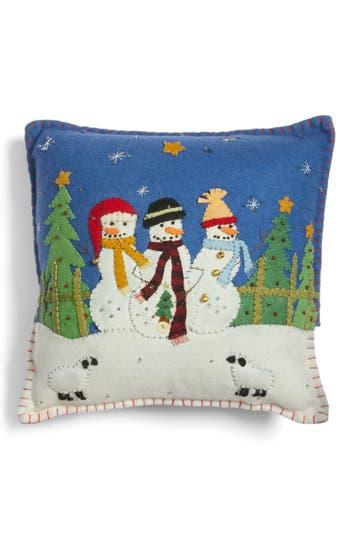 New World Arts Snowmen Pillow, Size One Size - Blue