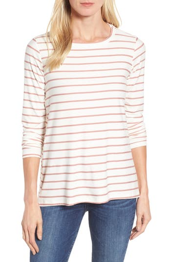 Women's Bobeau Butter High/low Top, Size X-Large - Ivory
