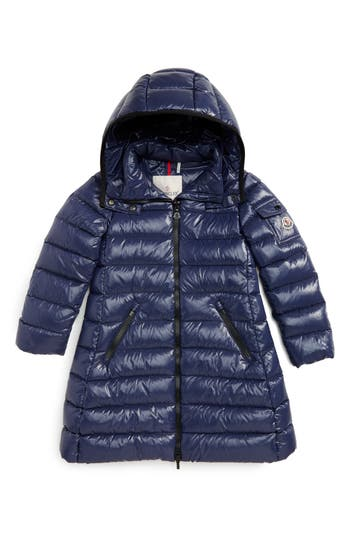 Girl's Moncler Moka Long Hooded Waterproof Down Jacket