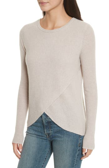 Women's Autumn Cashmere Cashmere Reversible Surplice Sweater