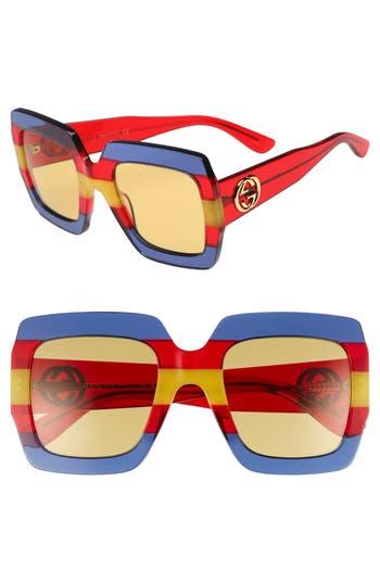 Gucci 5m Square Sunglasses - Multi/ Blue