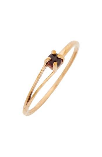 Women's Madewell Delicate Garnet Cutout Ring
