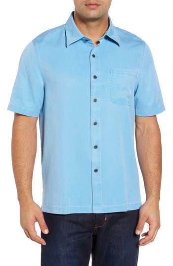 Men's Nat Nast 'Havana Cloth' Regular Fit Short Sleeve Silk & Cotton Sport Shirt