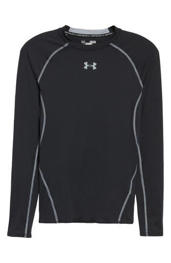 Under Armour Heatgear Compression Fit Long Sleeve T-Shirt, Black