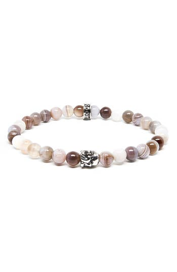 Men's Room101 Agate Buddha Stretch Bracelet