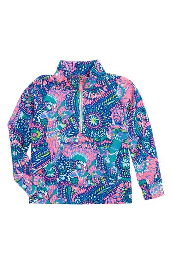 Girl's Lilly Pulitzer Little Skipper Pullover, Size M (6-7) - Blue