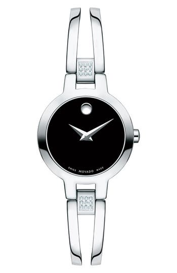Women's Movado Amorosa Diamond Bangle Watch, 24Mm
