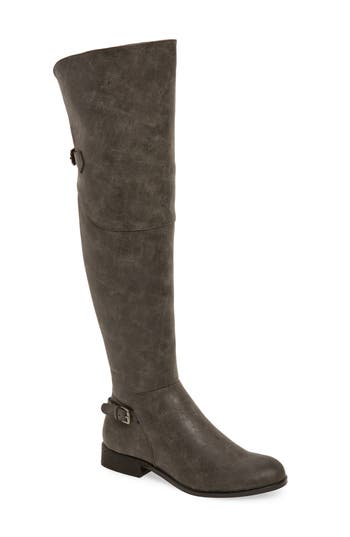 Very Volatile Otto Over The Knee Boot, Grey