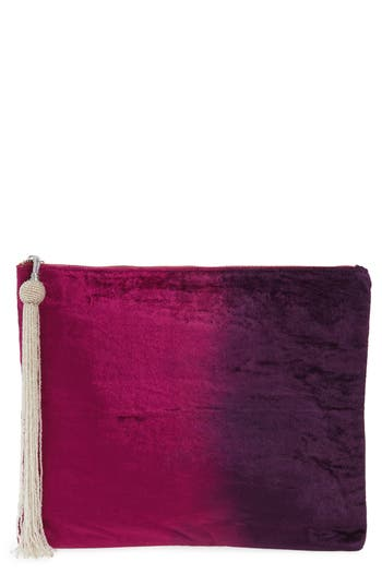 Steve Madden Velvet Pouch Clutch - Pink