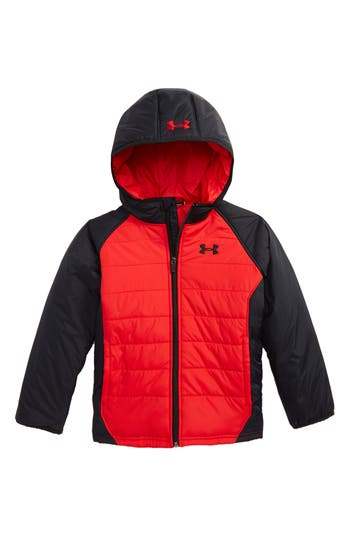 Toddler Boy's Under Armour Werewolf Water Resistant Coldgear Hooded Puffer Jacket