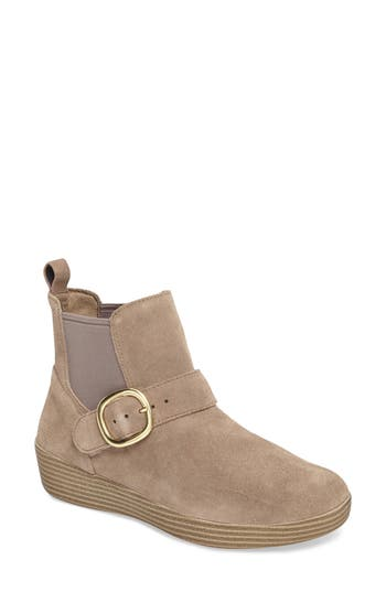 Fitflop Superbuckle Chelsea Boot, Beige