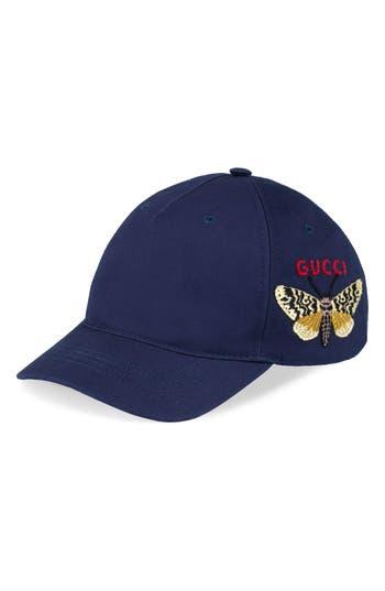 Men's Gucci Logo Baseball Cap - Blue