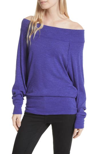 Free People Palisades Off The Shoulder Top, Blue