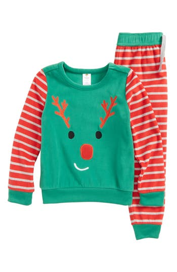 Boy's Tucker + Tate Reindeer Fitted Two-Piece Pajamas Set