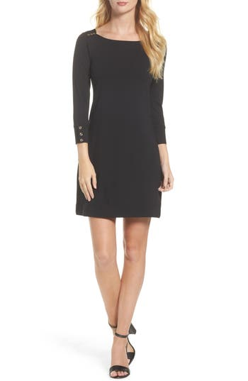 Women's Lilly Pulitzer Sophie Upf 50+ Shift Dress, Size XX-Small - Black