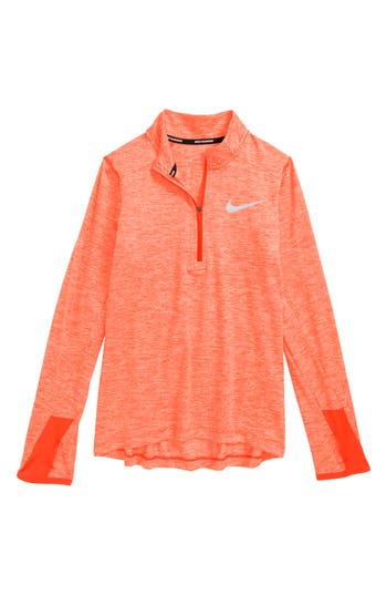 Boy's Nike Dry Element Quarter Zip Top, Size XS (7) - Black