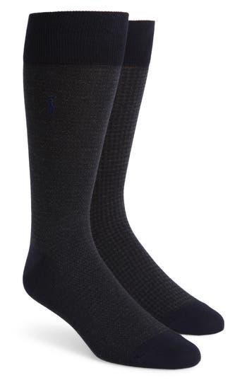 Men's Polo Ralph Lauren 2-Pack Assorted Houndstooth Dress Socks