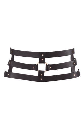 Bijoux Indiscrets Maze Belt, Size One Size - Black