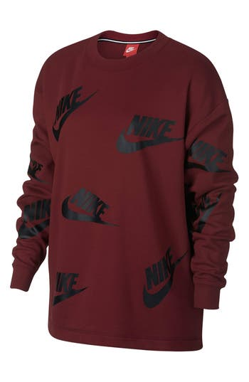 Nike Sportswear Futura Crewneck Sweatshirt, Red