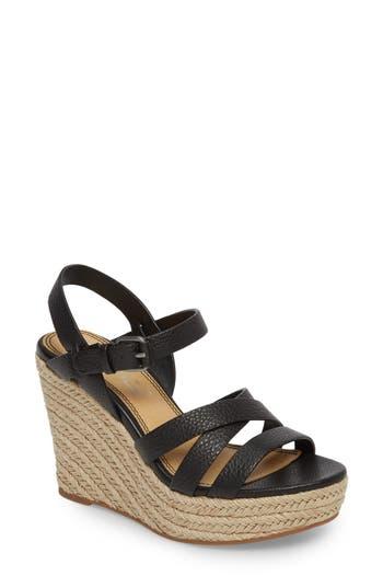 Women's Splendid Billie Espadrille Wedge, Size 6.5 M - Black