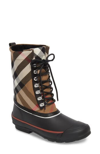 Burberry Rowlette House Check Rain Boot Women Nordstrom