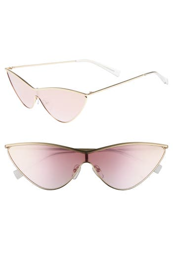 Adam Selman X Le Specs Luxe The Fugitive 71Mm Sunglasses - Gold/ Rose Gold