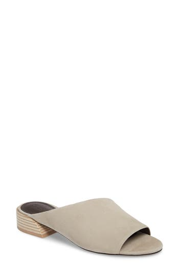 Mercedes Castillo Irene Asymmetrical Sandal Mule, Grey