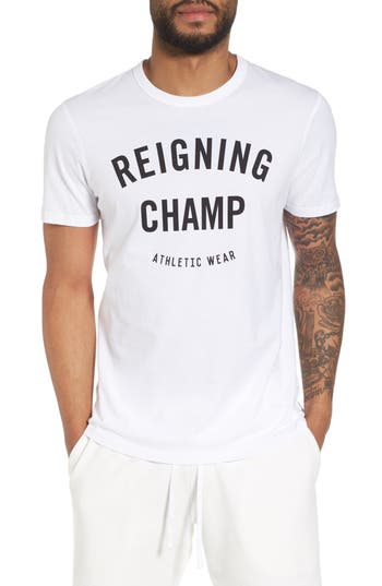 Reigning Champ Gym Logo T-Shirt, White