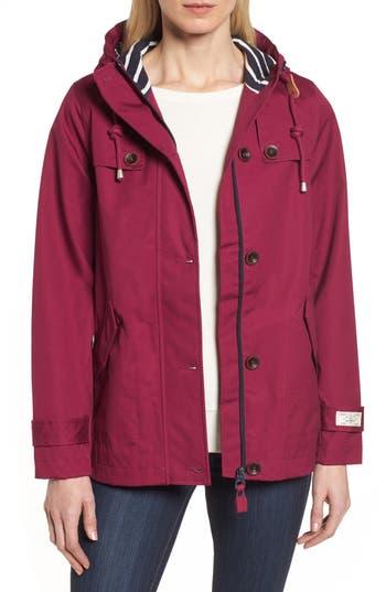Joules Right As Rain Waterproof Hooded Jacket, Pink