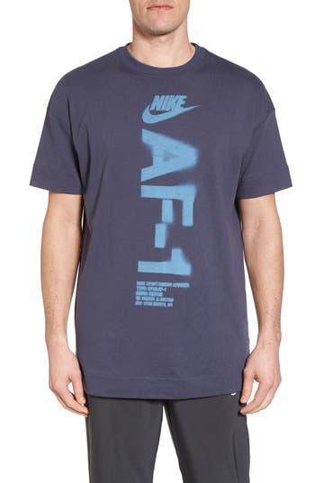 Nike Nsw Heavyweight Af-1 T-Shirt, Blue