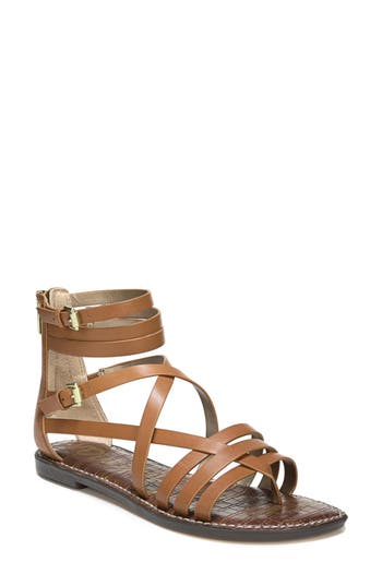 Women's Sam Edelman Ganesa Strappy Sandal, Size 5 M - Brown