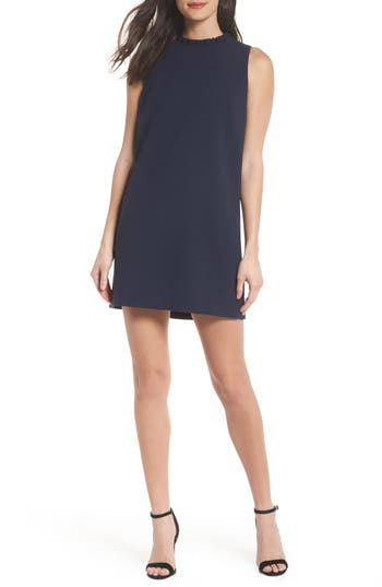 French Connection Whisper Light Ruffle Minidress, Blue
