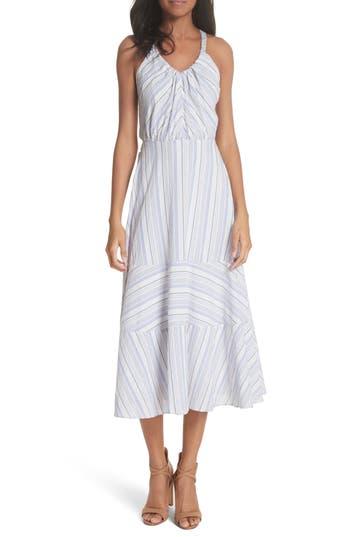 La Vie Rebecca Taylor Leila Stripe Midi Dress, White