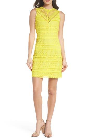 Sam Edelman Lace Sheath Dress, Yellow