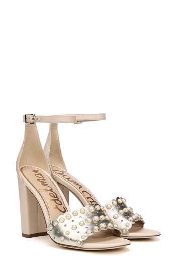 Sam Edelman Yaria Studded Block Heel Sandal- Metallic