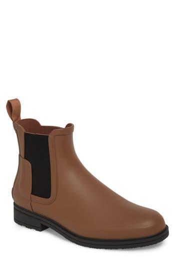 Hunter Original Refined Waterproof Chelsea Boot, Brown
