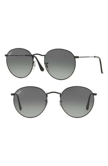 Ray-Ban 5m Round Retro Sunglasses - Black
