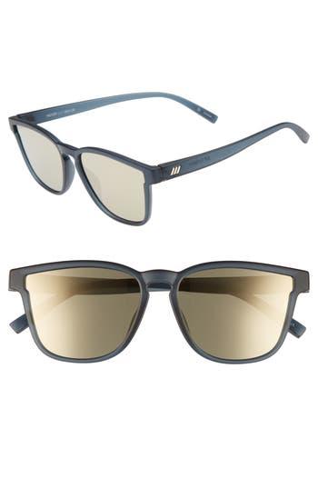 Le Specs History 5m Modern Rectangle Sunglasses - Matte Midnight