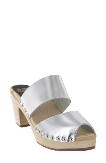 60s Shoes, Boots | 70s Shoes, Platforms, Boots Womens Mia Elva Clog Sandal Size 10 M - Metallic $109.95 AT vintagedancer.com