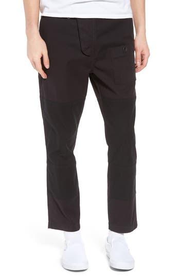 Hudson Jeans Slouchy Slim Fit Cargo Pants, Black