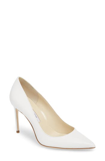 Valerie Pointy Toe Pump, Black Leather