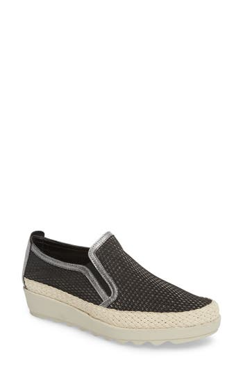 The Flexx Call Me Perforated Slip-On Sneaker, Black